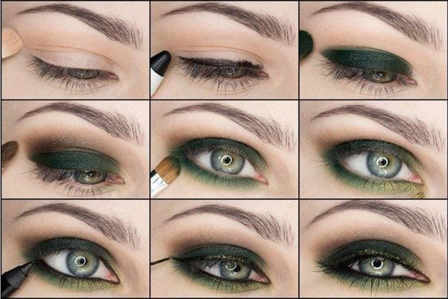 Макияж по цвету глаз - Зелёные глаза